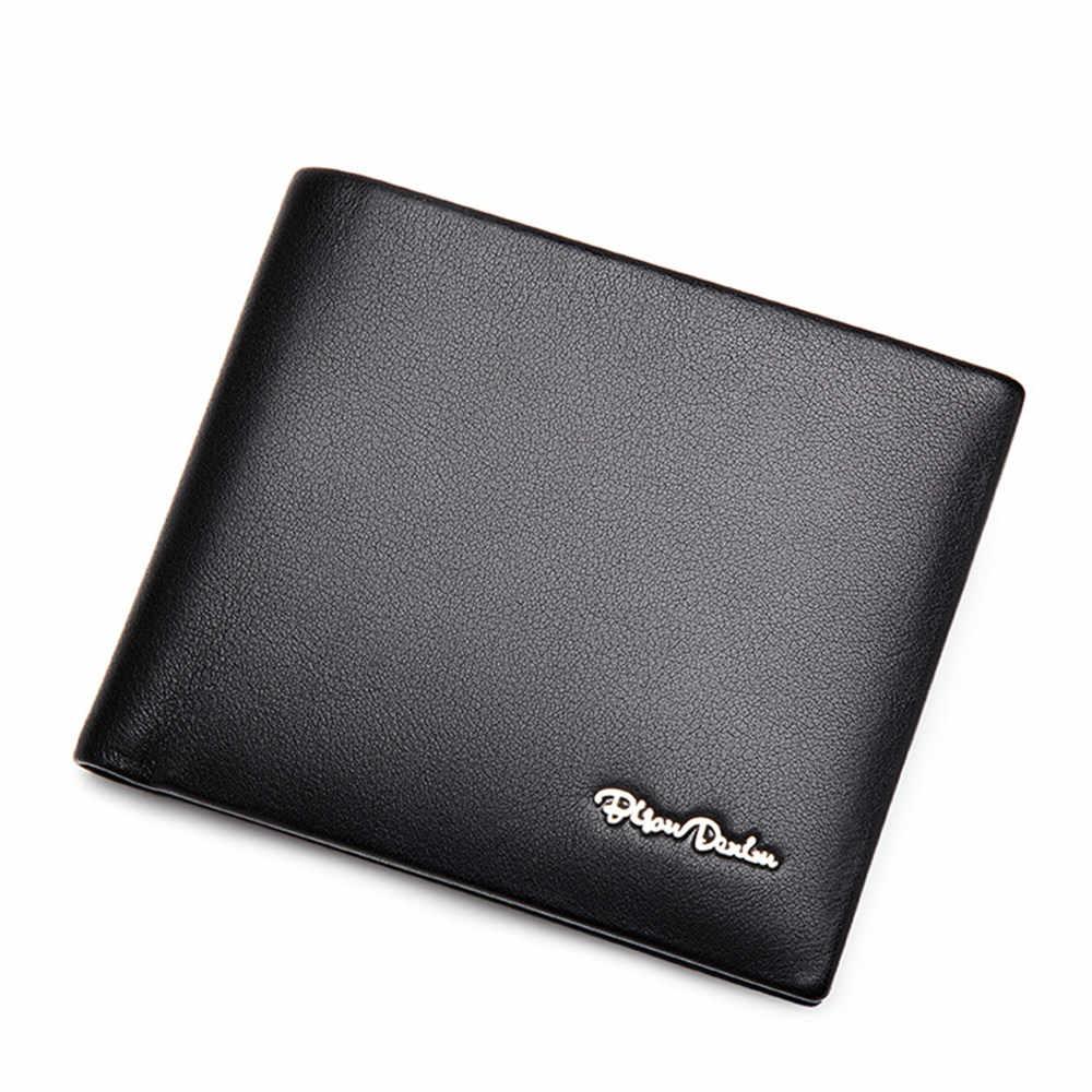 BISON DENIM hakiki deri RFID cüzdan erkek çok fonksiyonlu kartlıklı cüzdan ile bozuk para cüzdanı yumuşak standart para çantası W4495