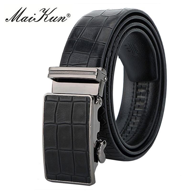 Designer Cowskin Leather Belts for Men Belt Luxury Cowhide Male Strap for Jeans Automatic Buckle Waist Strap Crocodile Pattern
