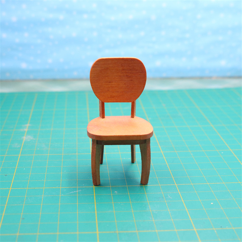 Doub K 1:12 dollhouse furniture for dolls kawaii miniature wooden chair girls children kid pretend play toys gifts Furniture toy