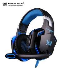 Kotion each g2000 pc gamer gamer gaming headset auriculares auriculares auriculares fone de ouvido auricular con micrófono led
