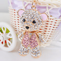Teddy Bear Keychain Animal Key Chain Fashion Keyring Car Key Ring Women Jewelry Accessories Bomgom Bag Pendant Birthday Present