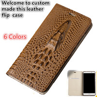LS15 Natural Leather Flip Case With Card Slot For Meizu MX6(5.5') Phone Case For Meizu MX6 Flip Cover Case