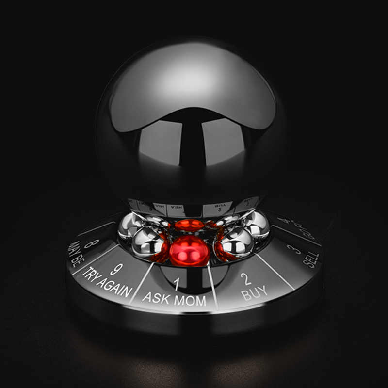 Decision Maker Metal Ball Toy Prophecy Fate Decision Ball Office Table toy Featured Gift Desktop Decoration Paperweight Tool