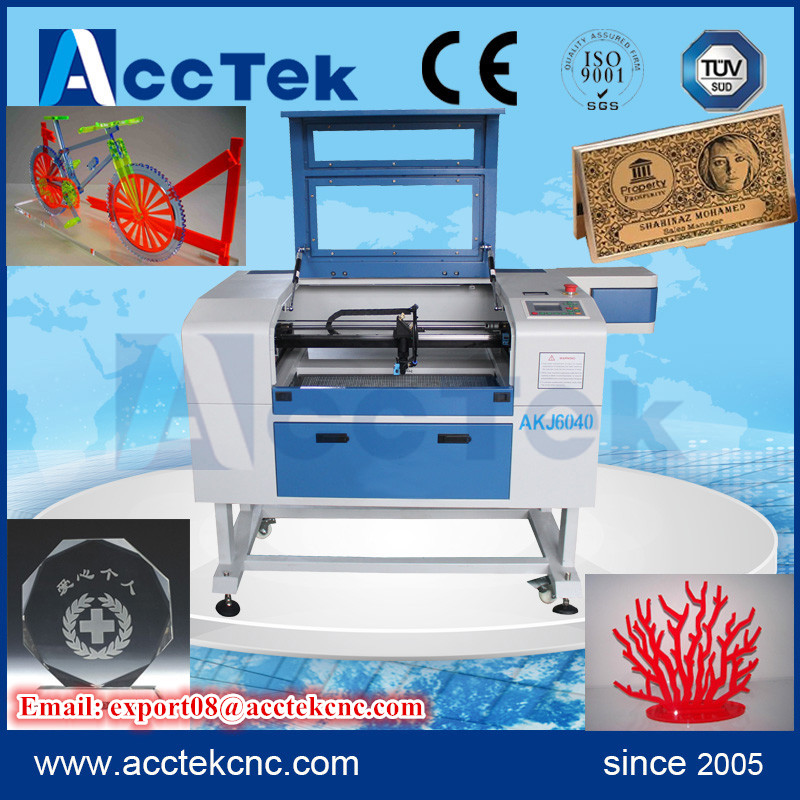 Jinan Acctek 60w/80w glass co2 laser tube small co2 laser engraving machine/mini laser engraver 6040/6090 cheap price ce certificated jinan acctek cheap hot sale laser machine spare parts