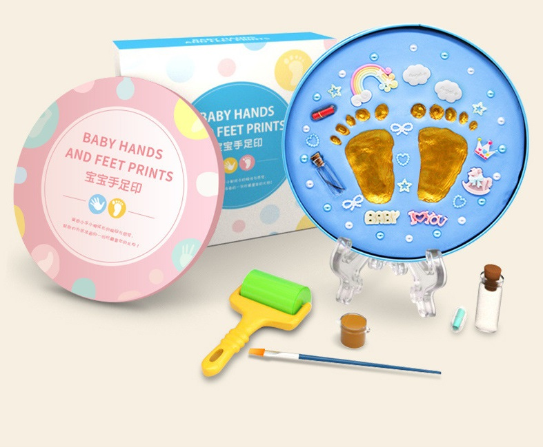 Baby Souvenirs Baby Hand And Footprint Hand & Footprint Makers Air Drying Soft Clay Baby Care Newborn Inkpad Imprint Kit Gifts
