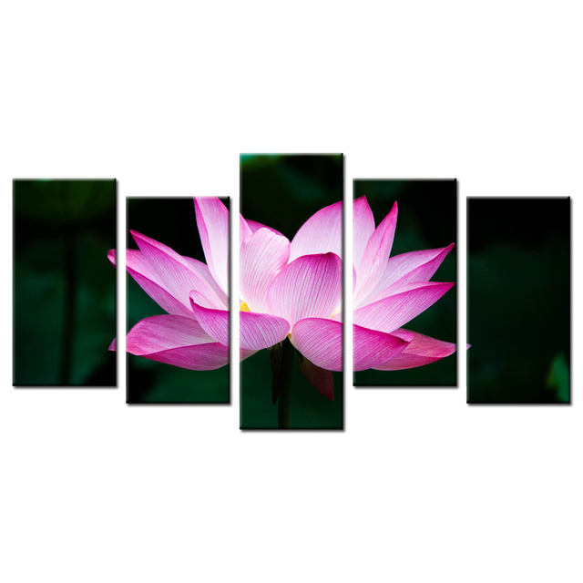 Home decoration painting wall art contemporary lotus flower printed home decoration painting wall art contemporary lotus flower printed poster canvas wall pictures kids room decor mightylinksfo