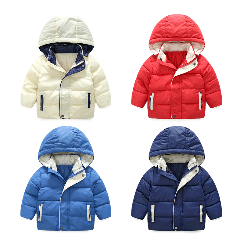 Vinnytido Jackets For Boys Down Cotton Children Snow Wear Outerwear Coat Warm Kids Parkas Hooded