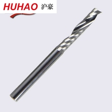 Free Shipping Single Flute CNC Router Bits One Flute Spiral End Mills Carbide Milling Cutter Spiral PVC Cutter