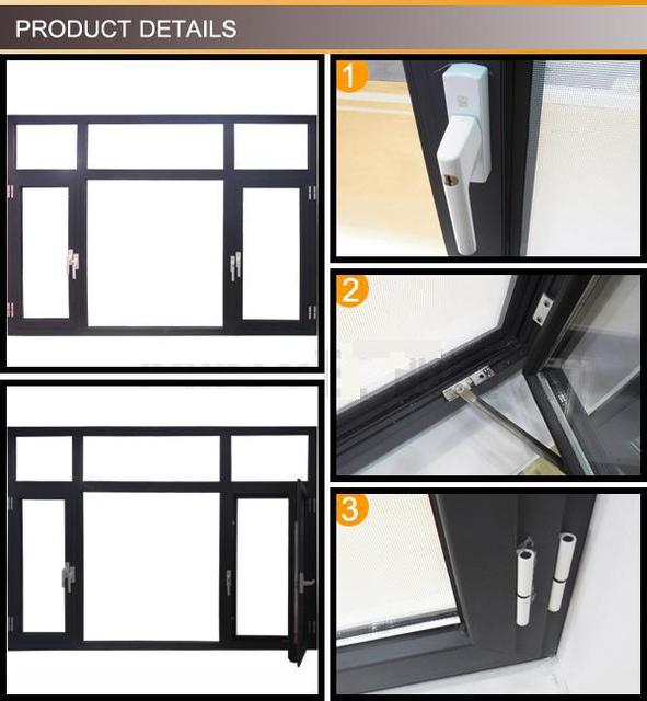 Thermal Break Profile Aluminum Window And Door With High Quality
