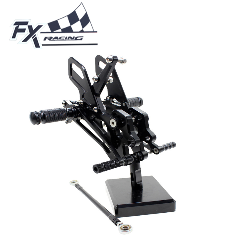 FX Aluminum Motorcycle Rearsets Rear Set Foot Pegs Pedal Footrest For Kawasaki ZX10R ZX 10R 2004-2005 Moto Foot Peg morais r the hundred foot journey