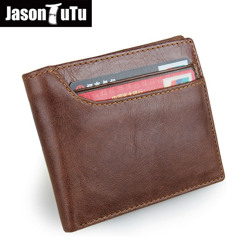 7c08d86c03d JASON TUTU Retro portemonnee RFID shield portemonnee anti scan Lederen  portefeuilles hoofd huid korte paragraaf mannen portefeuilles FB4066 in  JASON TUTU ...