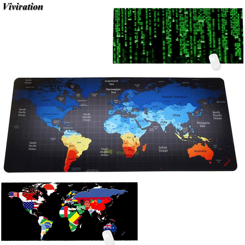 Viviration Soft Gaming Mouse Pad Lock Edge 90x40cm Computer Mouse Pad Keyboard Mat XL Desk Protector Newest Rubber Mousepad Mat