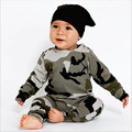 Children's Camouflage Outfits 2017 Baby Boys and Girls Cotton Jumper shirts with Harem pants bebe fashion casual christmas sets
