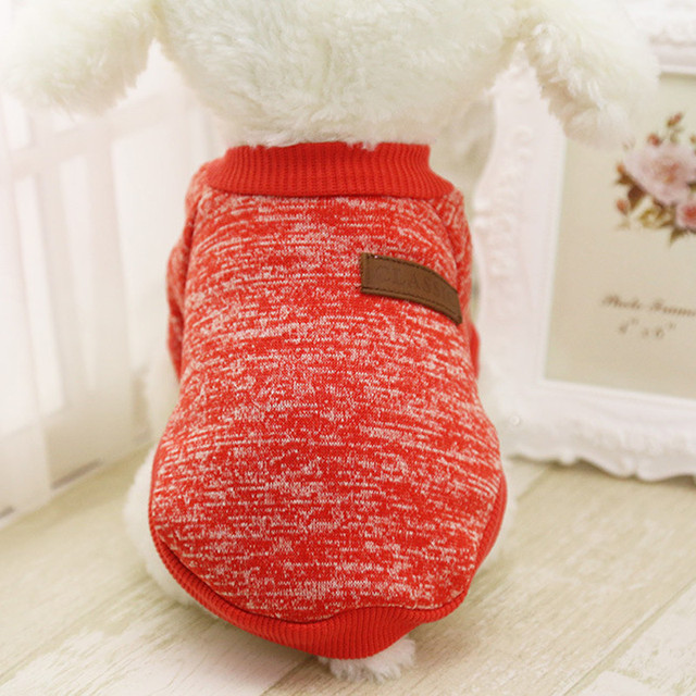 Neweset Dog sweater8 Color Pet Dog Puppy Classic Sweater Fleece Sweater Clothes Warm Sweater Winter jacket for dogs sueter perro