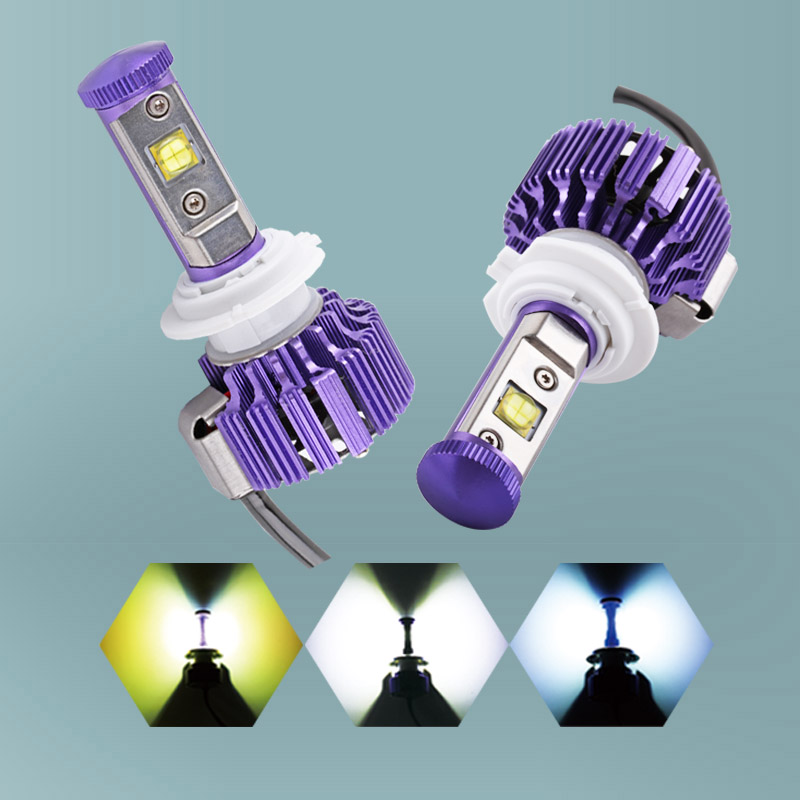 2PCS 60W 6,000Lm H7 Cree Chips LED Headlight Bulbs Conversion Kit - DIY your Color - Replaces Halogen and Xenon HID Bulbs 2pcs 60w 6 000lm h11 h9 h8 cree led chip headlight bulbs conversion kit diy your color replaces bulbs d035