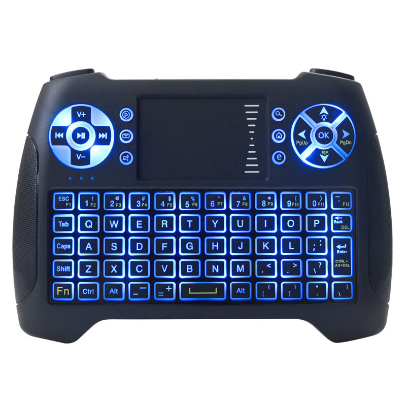 2.4GHz Mini Wireless Keyboard Air Mouse Touchpad Handheld English Version Backlight QWERTY Keyboard For Android TV BOX Mini PC