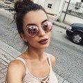 Neue Marke Designer Vintage Oval Sonnenbrille Frauen Retro Klare Linse Brillen Runde Sonnenbrille Für Weibliche Damen Oculos De Sol