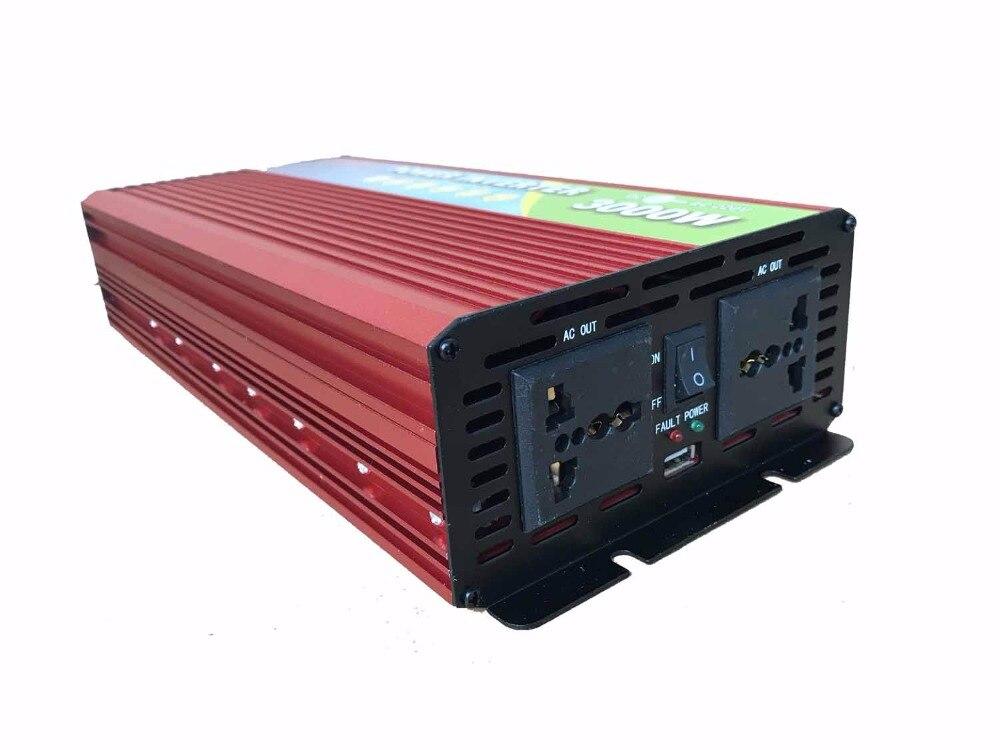 3000W 24V to 220V power inverter dc ac carregador veicular for refrigerator, microwave use road trip