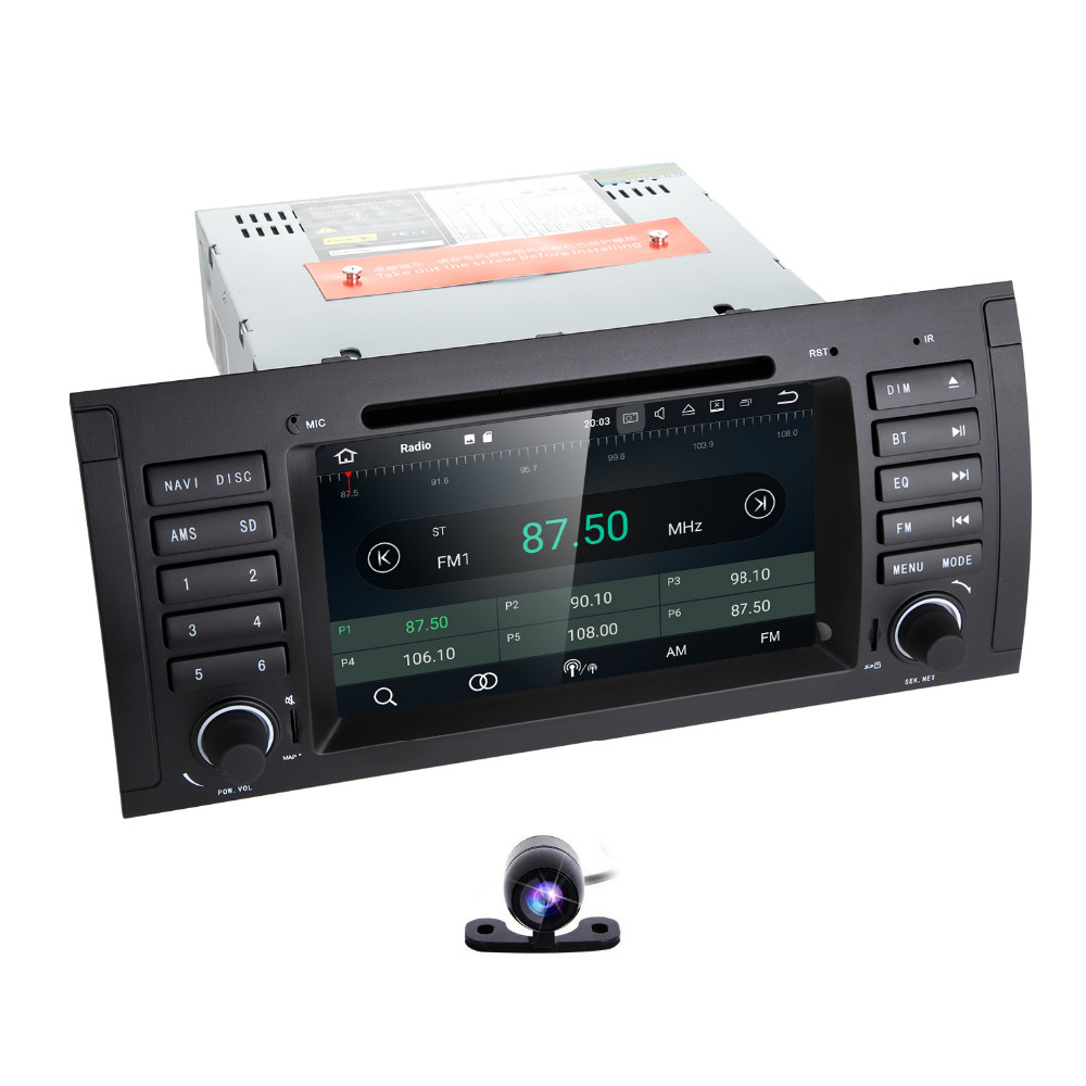 7 inch 1Din AutoRadio Head unit Car DVD Player For BMW E39 E53 E38 M5 X5 1994-2007 Multimedia Stereo GPS Navigation WiFi SWC 4G