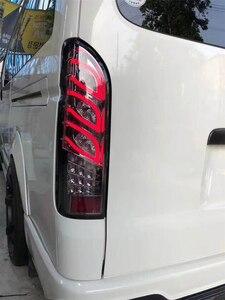 Image 2 - Xe Ô Tô NHẤP NHÁY 1 Led Đuôi Đèn Đèn Sau Ngày Ánh Sáng Nhan Chiếu Sáng Cho Xe Toyota Hiace 200 Series Phía Sau chiếu Sáng 2005 2018