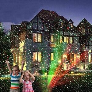 Image 3 - Outdoor Moving Full Star STAR เลเซอร์โปรเจคเตอร์ Light Christmas Green & RED LED ภูมิทัศน์กลางแจ้งสนามหญ้าสวนเลเซอร์ LIGHT