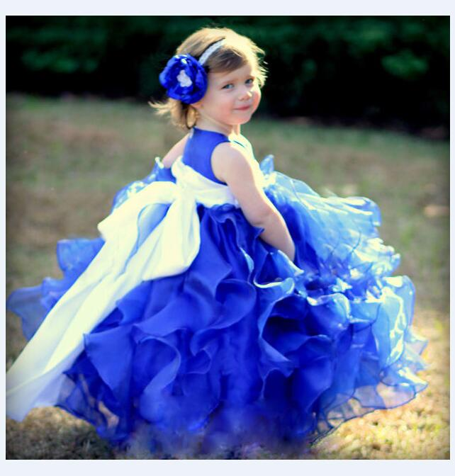 все цены на Girl's Pageant Princess Dresses 2017 Sleeveless Flower Girls Dresses Gauze Kids Tiered Gowns Dress Children Wedding Party Dress