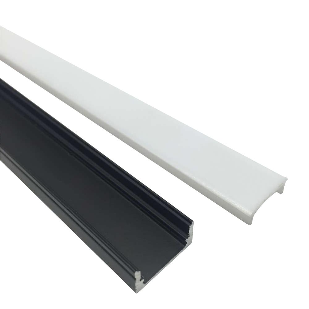 5Sets / lot 5x3.3ft / 1M Black 12mm LED алюминий - LED Жарықтандыру - фото 3