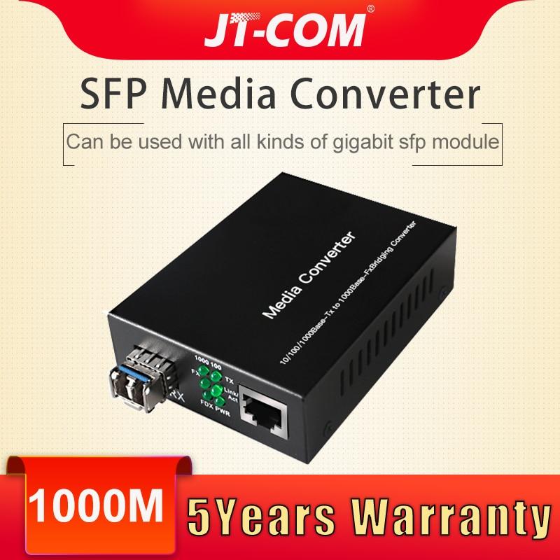 Gigabit SFP Media Converter GPON/OLT 1 RJ45 Ethernet per Porta Ottica Fibra Optica Interruttore Transceiver In Fibra Ottica Modulo 20 80 km