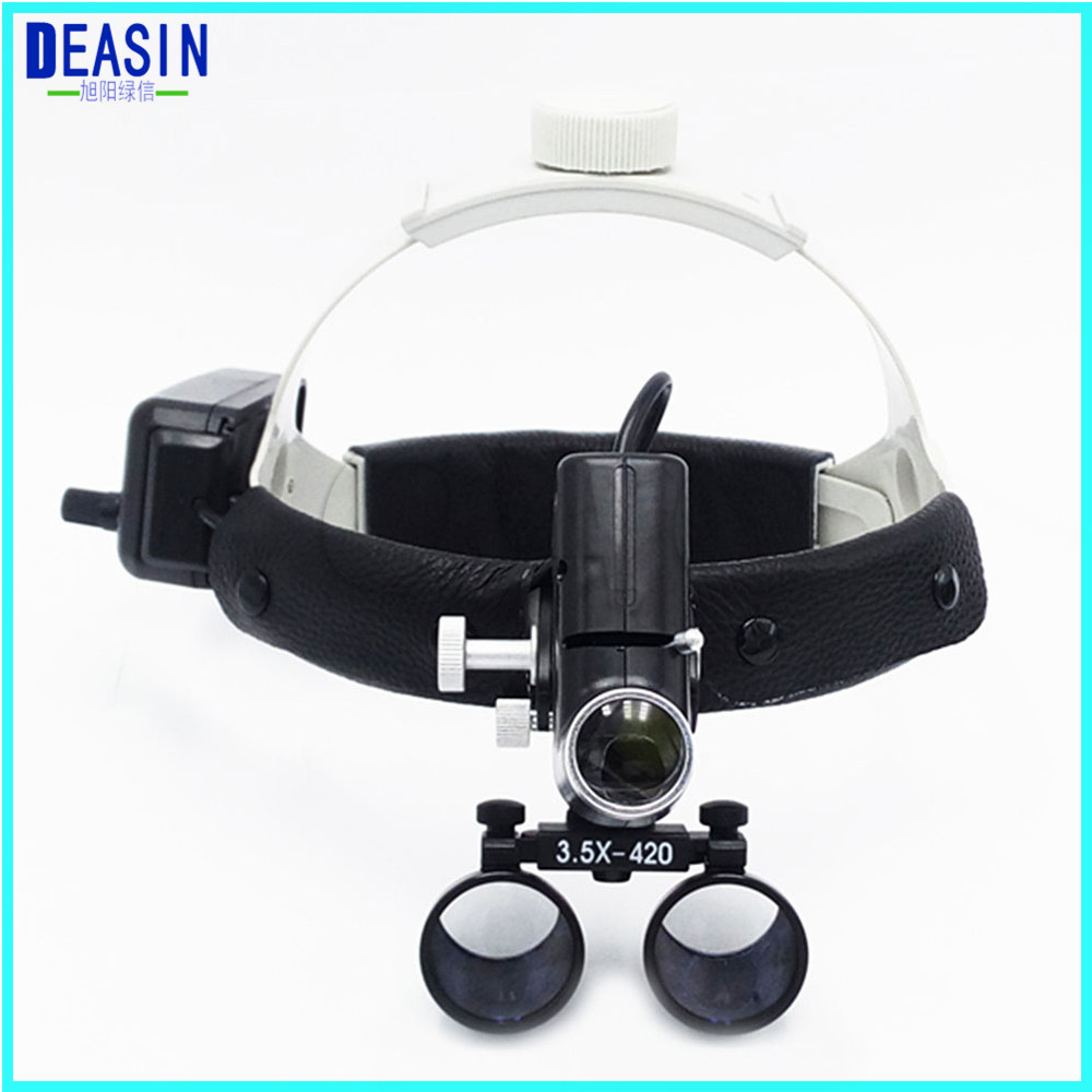OAO TOP quality 3.5X Operation lamp surgical headlight Dental Loupes Medical Magnifier Dental Loupes hot sale 2 5x medical magnifier all in ones operation lamp surgical headlight and dental loupes