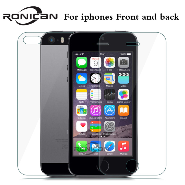 2Pcs lot Front + Back Tempered Glass For iPhone 5 5s SE 4 4S 6 6s 7 ... c8a0b8f3f470