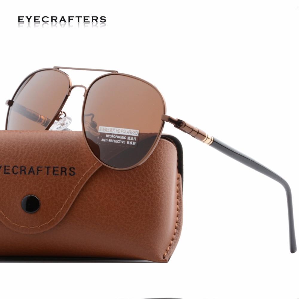 Gun Metal Polarized Sunglasses Mens UV400 Classic Pilot Driving Sunglasses