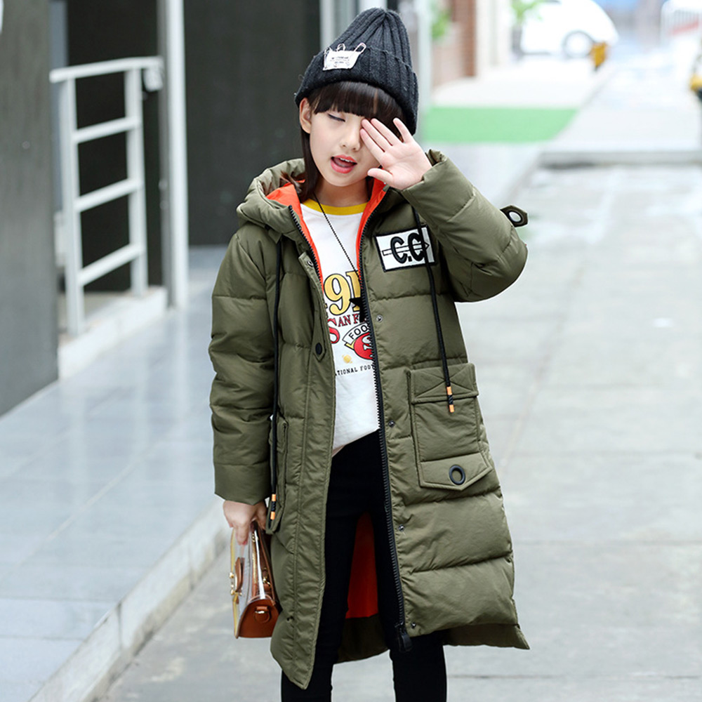 XYF8831 Girls Kids Autumn Winter Down Jackets 80% Duck Down Boys Winter Coat Children Down Coat Keep Warm Outerwear 6-13T