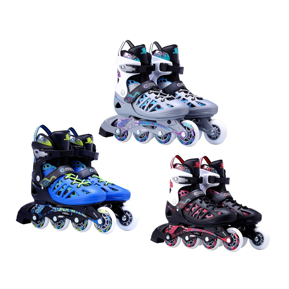 купить Unisex Adults Skating Shoes Professional Single-row Roller Skates Shoes Adjustable Inline Skating Shoes Roller Skating онлайн