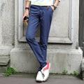 Мужчины новое прибывают брюки мода полная длина прямые брюки популярные моложе свободного покроя брюки с пакетами платье