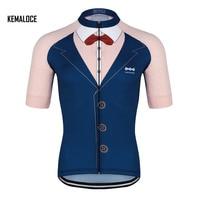KEMALOCE 2018 Blue Summer Short Sleeve Cycling Clothing Ropa Ciclismo Bike Racing Cycling Tops Team Cycling