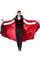 Vampire Count Cosplay Halloween Costumes Aristocratic Dress Masked Ball Carnival Masquerade Nightclub Dance Suit