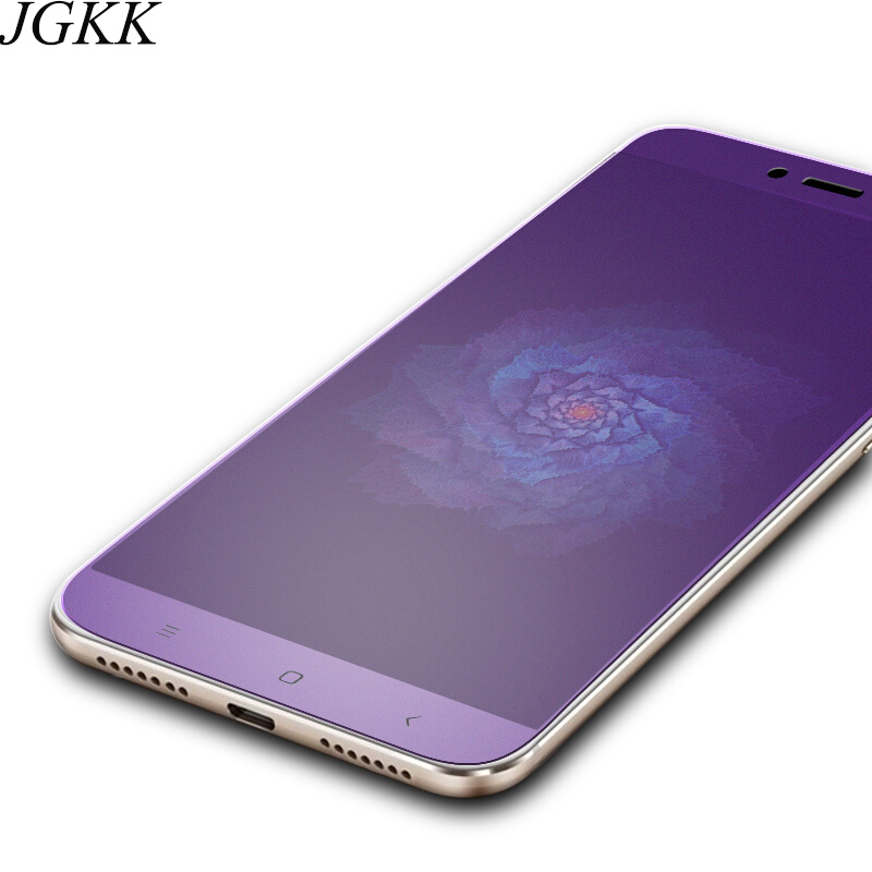 JGKK Anti blue Matte Tempered Glass For Xiaomi Mi Max 2 Max 3 Anti Blue Frosted Screen Protector For Mi MIX 2S Note 3 Film in Phone Screen Protectors from Cellphones Telecommunications