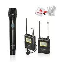 Saramonic UwMic9 96 каналов УВЧ Беспроводной петличный микрофон Системы для DSLR видеокамеры saramonic Беспроводной ручной микрофон