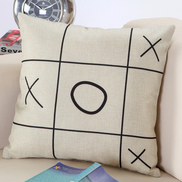 45*45 cm Decorative New Design Black White Abstract Geometric Throw Pillowcase Pillow Cover for Couch