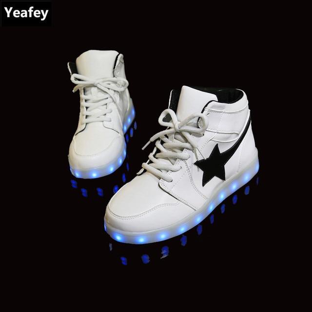 Krasovki Lumineux Étoiles Noir Sneakers Yeafey Femmes Blanc UP4xqq0w c14d2ef54e0