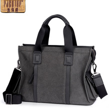 bolsa feminina Pabojoe brand new 2017 soft Men Messenger Bag Shoulder Bag cow leather handbag free shipping