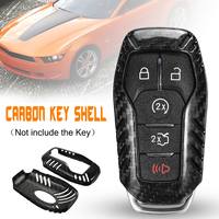 5 Button Carbon Fiber Car Remote Key Keyless Smart Key Cover Case For Ford for Mustang 2014 2015 2016 2017 2018