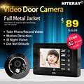 One Key Monitor Peephole Viewer Door Video Eye Peephole Camera With Motion Sensor & Auto Photo Taken
