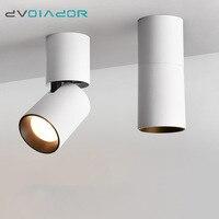 DVOLADOR Led Surface Mounted Ceiling Downlight Adjustable 360 degrees Spot light for indoor Foyer,Living Room Kitchen AC90 260V