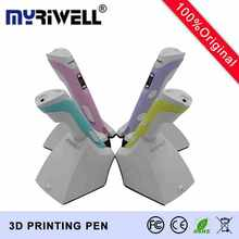 Myriwell Fourth Generation 3D Pen Portable Wireless Charging 3D Printing Pen 3D Model 3.7V 1500mAH PCL/PLAkids Draw Out imagine