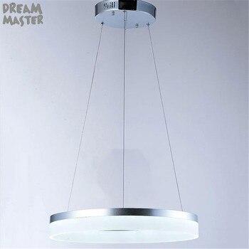 D20cm D40cm D60cm D80cm Ring Anhänger Lichter LED Moderne Lampe Leuchten Mit Milchig Acryl Lampenschirm Hanglampen Industrieel Land