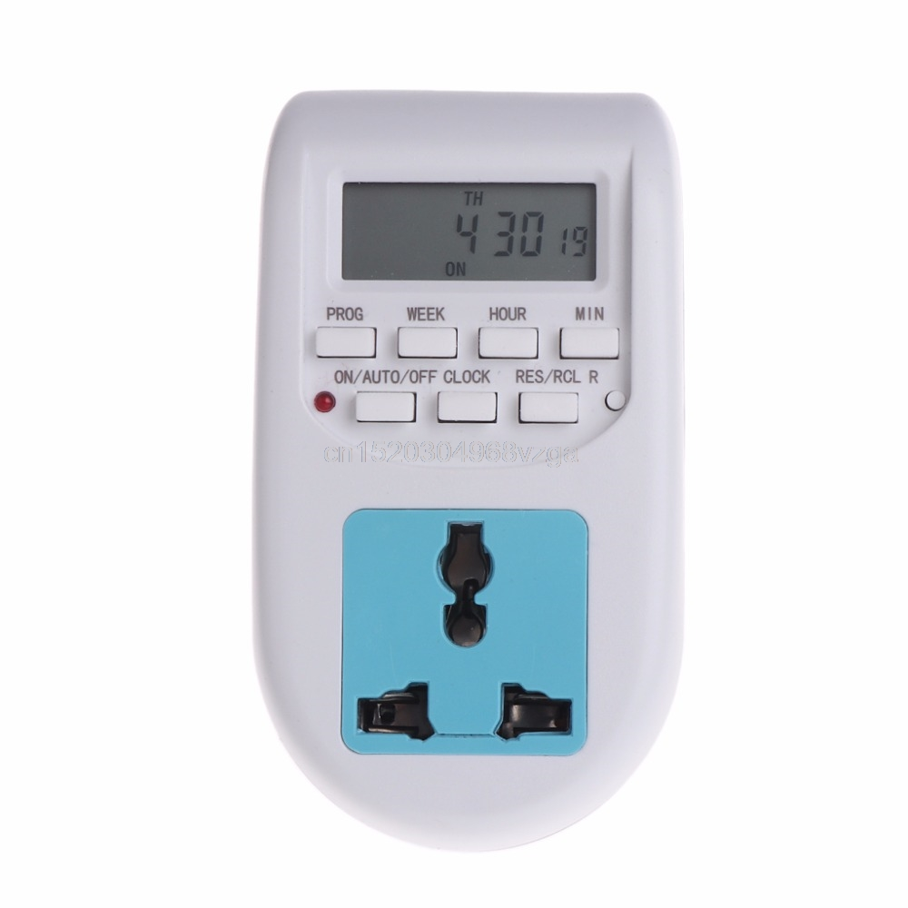 Digital Display Energy Saving Timer Programmable Electronic Socket Timer EU Plug J16 dropshipping