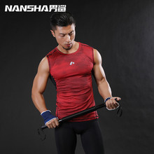 2017 Men Tank Top Clothing Mens Summer Gyms Tank Tops Red Blue Gray Singlets Sleeveless Shirts Fitness Men Vest Bodybuilding Top