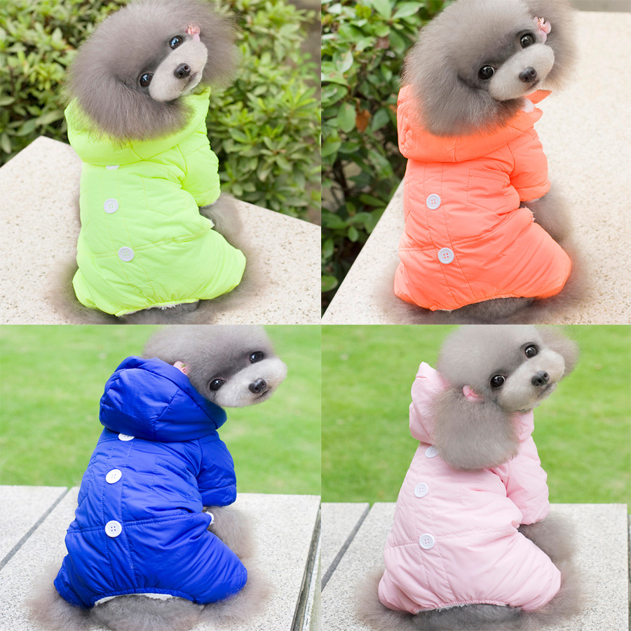 2016 new winter dog clothes four leg coat pet thick warm winter clothes fashion