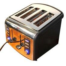 Нержавеющая сталь 4 ломтика тостер автоматический тостер CFDQ004 электрическая духовка Тостер, Завтрак машина для выпечки нагрева хлебопечки
